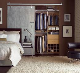 Встроенные шкафы лофт