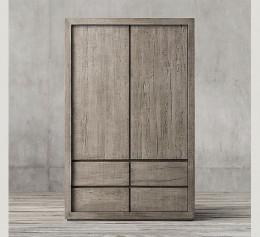 Двухдверный шкаф лофт