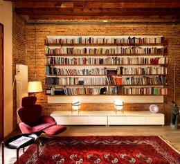 Книжный шкаф в стиле лофт