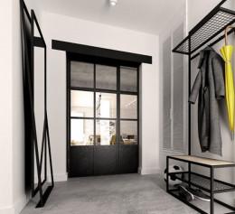Шкаф в прихожую в стиле лофт