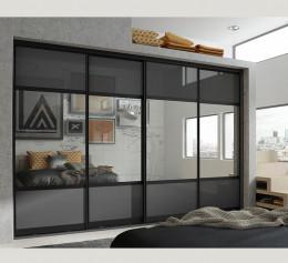 Шкаф серого цвета