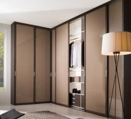 Шкафы распашные угловые для одежды