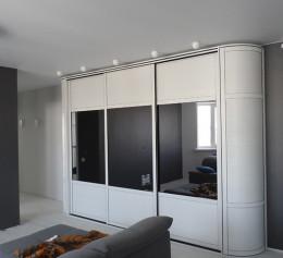 Шкаф белый серый