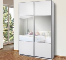 Шкаф напольный белый глянец