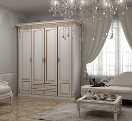 Белый классический шкаф