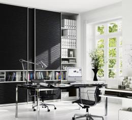 Шкаф офисный со стеклом