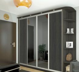 Шкаф 4 х створчатый с зеркалом