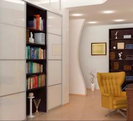 Книжные шкафы высокие
