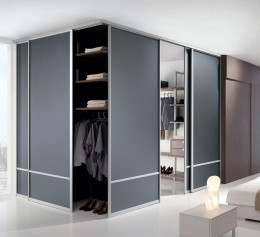 Угловой шкаф черный