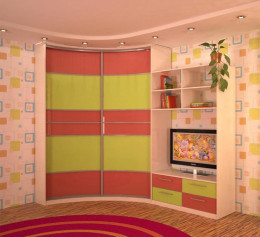 Шкаф детский узкий