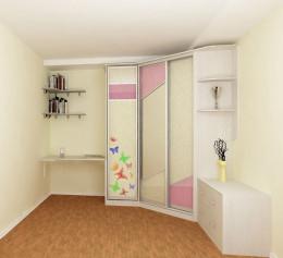 Угловой шкаф для книг в детскую