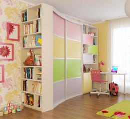 Детская стенка со столом и шкафом