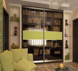 Раздвижные книжные шкафы для домашней библиотеки