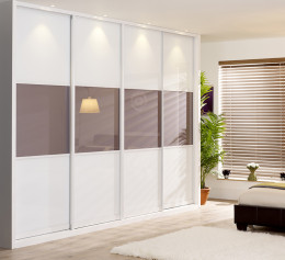Шкаф подвесной белый глянец