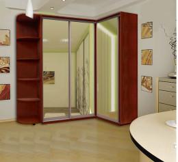 Угловые шкафы со стеклянной дверью
