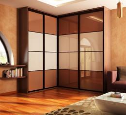 Угловые шкафы в гостиную современные