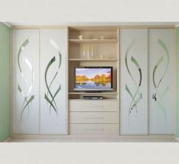 Шкаф с полками для телевизора