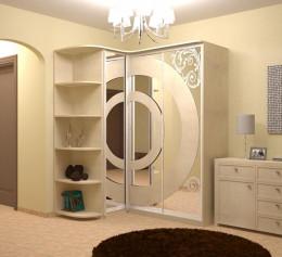 Шкаф угловой белый в спальню