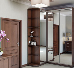 Шкаф угловой орех с зеркалом