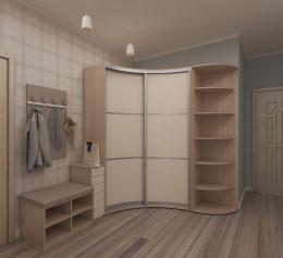 Светлый шкаф в коридор