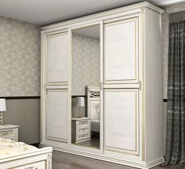 Шкаф зеркальный 30 см цвет белый