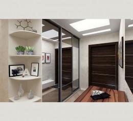 Шкаф 3 дверный с зеркалом и ящиками