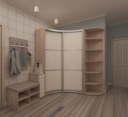 Шкаф в угол прихожей